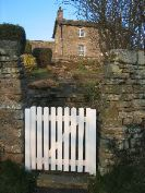 Front gate to Bruce Cottage