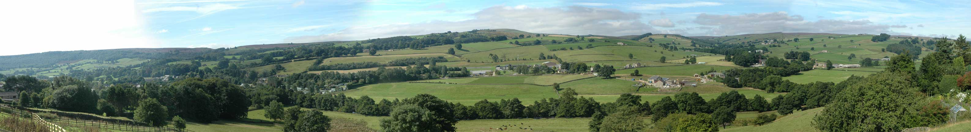 Bruce Cottage - panoramic view of Nidderdale